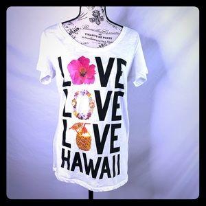 🌺RARE! VS PINK Hawaii tee